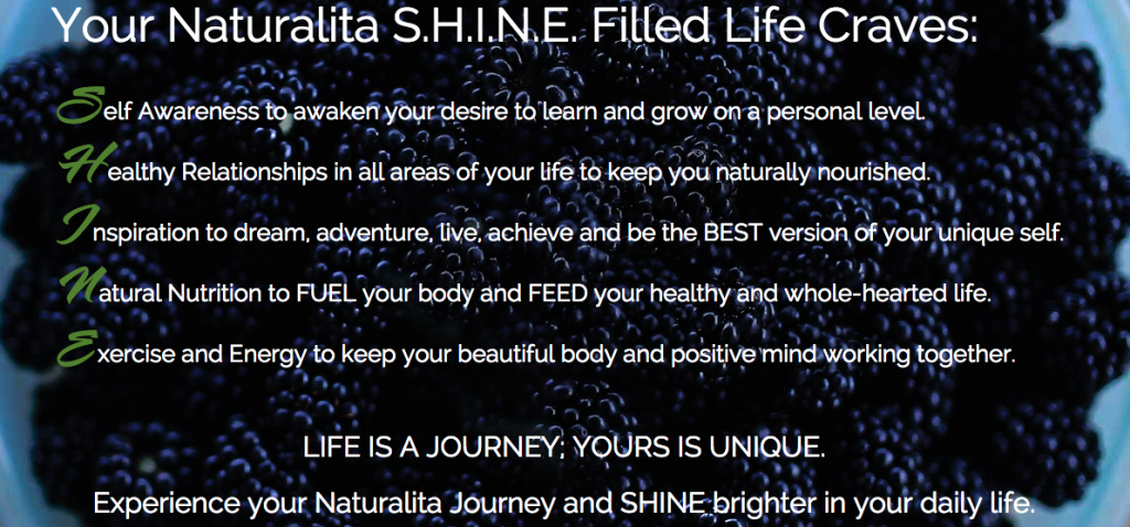 Naturalita SHINE into a Healthier YOU!
