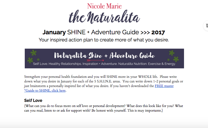 shine guide, template, happy life template, adventure guide, life coach guide