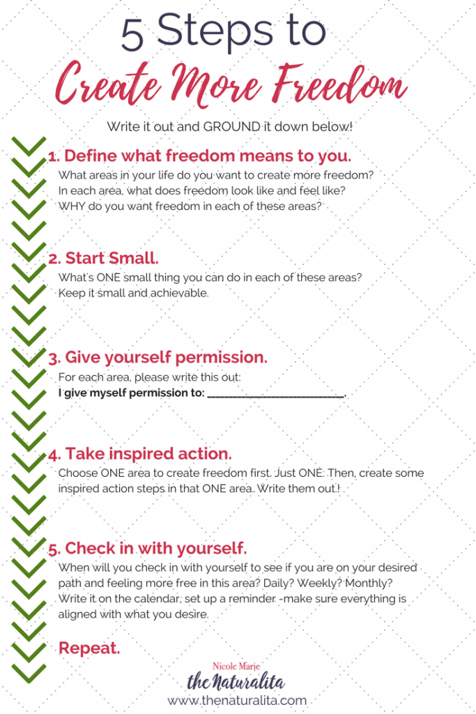 Follow these steps to create more freedom in your life